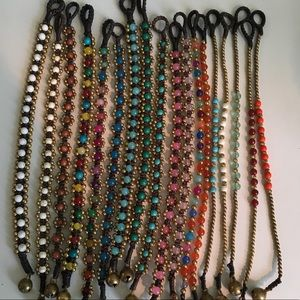Jewelry - Bohemian hand woven brass beaded bracelets